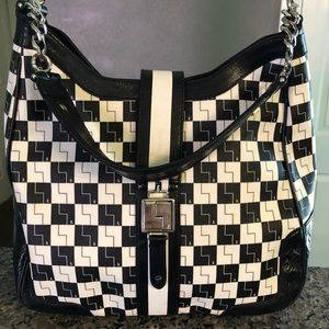 L.A.M.B. Black & White Hand bag In mint condition